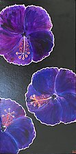 Purple Hibiscus On the Run by Pamela Acheson Myers (Acrylic Painting)