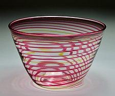 Striped Bowl #2 by James Friedberg (Art Glass Bowl)