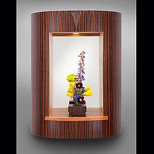 Curved Entry Mirror by Robert Krantz (Wood Mirror)