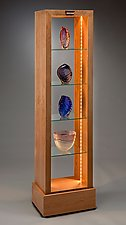 Lighted Art Display Piece by Robert Krantz (Wood Cabinet)