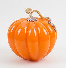 Harvest Pumpkins by Treg  Silkwood (Art Glass Sculpture)