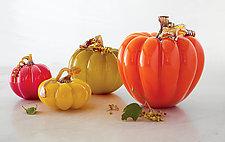 Fall Pumpkins by Treg  Silkwood (Art Glass Sculpture)