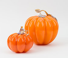 Harvest Pumpkins by Treg  Silkwood (Art Glass Sculpture)