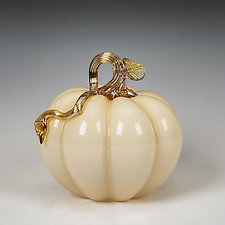 Autumnal Pumpkins by Treg  Silkwood (Art Glass Sculpture)