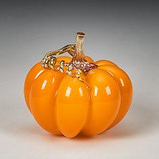Autumnal Pumpkins by Treg  Silkwood (Art Glass Sculpture)