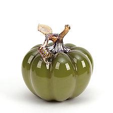 Cinderella Pumpkins by Treg  Silkwood (Art Glass Sculpture)