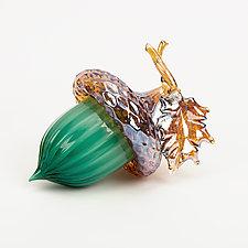 Forest Acorns by Treg  Silkwood (Art Glass Sculpture)