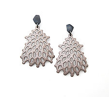 Large Structure Earrings by Joanna Nealey (Enameled Earrings)