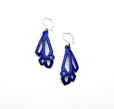 Long Geometric Earrings by Joanna Nealey (Enameled Earrings)