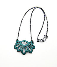 Wedge Crystalline Necklace by Joanna Nealey (Enameled Necklace)