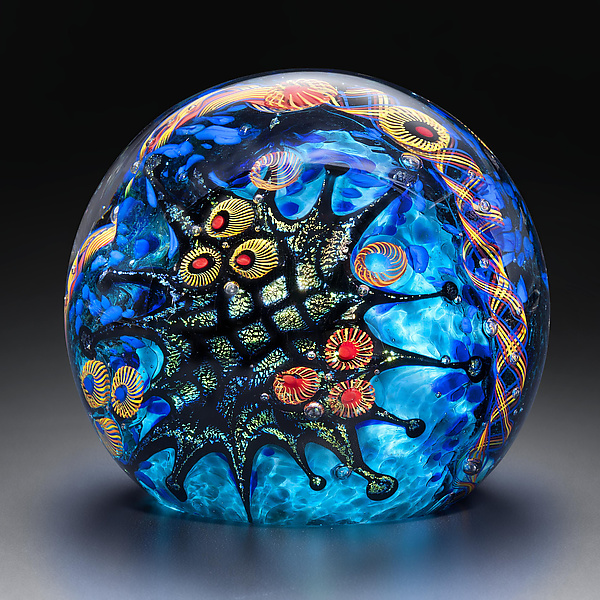 Teal Reef Paperweight