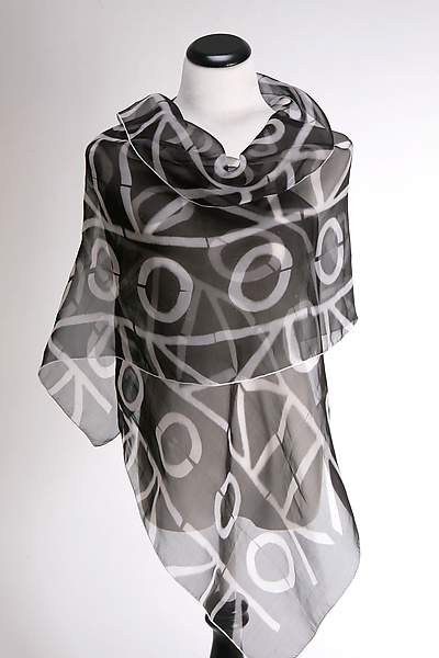 Geometric Wrap in Black and White