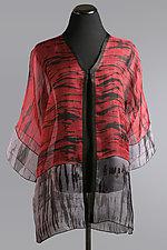 Red Shibori Jacket by Suzanne Bates  (Shibori Jacket)
