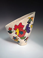 Fish Sail Vase by Jean Elton (Ceramic Vase)