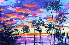 Twilight Palms by Bonnie Lambert (Oil Painting)