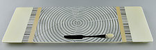 Medium Vanilla ColorCentric  Serving Plank by Terry Gomien (Art Glass Tray)