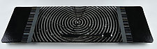 ColorCentric Black Serving Plank by Terry Gomien (Art Glass Platter)