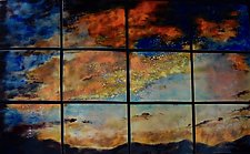 Sunset Enlarged by Cynthia Miller (Art Glass Wall Sculpture)