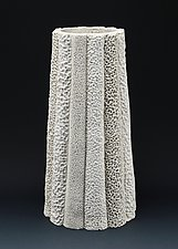 Ilese Column Coral Collage Vessel by Judi Tavill (Ceramic Vessel)