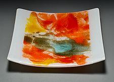 Abstract Plate by Martha Pfanschmidt (Art Glass Platter)