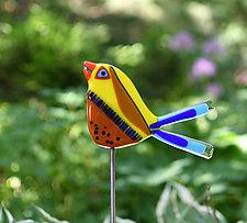 Napoleon and Josephine Garden Birds by Terry Gomien (Art Glass Sculpture)