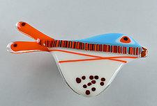 Playful Plumage by Terry Gomien (Art Glass Wall Sculpture)
