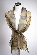 Gold Duet Silk Scarf by Suzanne Bates  (Silk Scarf)