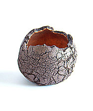 Geode Votive Brown by Emil Yanos (Ceramic Candleholder)