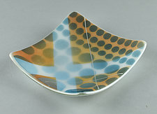 X Marks the Spot Everything Dish by Terry Gomien (Art Glass Candy Dish)