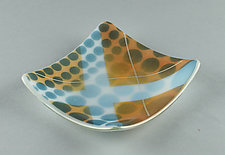 X Marks the Spot Number Two Everything Dish by Terry Gomien (Art Glass Candy Dish)