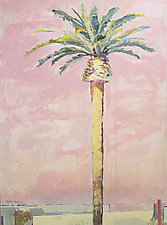 LA Pink Palm by Cynthia Eddings (Oil Painting)