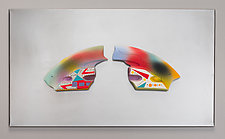 Mounted Multicolored Ceramic Wall Art IV by Jean Elton (Ceramic Wall Sculpture)