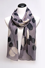 Graphic Circles Silk Scarf by Suzanne Bates  (Silk Scarf)