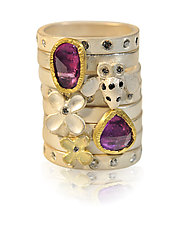 Silver Ring Stack by Rebecca  Myers (Gold, Silver & Stone Ring)