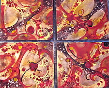 Autumn Quartet by Cynthia Miller (Art Glass Wall Sculpture)