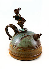 Big Party by Carol Tripp Martens (Ceramic Teapot)