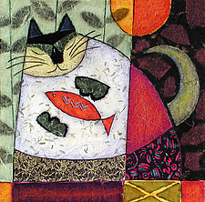 Supper Cat by Penny Feder (Giclee Print)