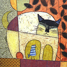 Cat Chat by Penny Feder (Giclee Print)