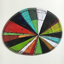 Layered Disc #32 by Barbara Gilhooly (Mixed-Media Wall Sculpture)