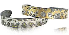 Medium Cheetah Print Cuff by Rebecca  Myers (Gold or Palladium Bracelet)