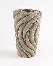 Cylinder VIII by Emil Yanos (Ceramic Sculpture)