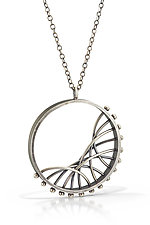 Diagonal Arc Necklace by Nikki Nation (Silver Necklace)