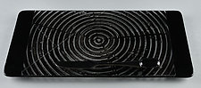 ColorCentric Black Serving Plank by Terry Gomien (Art Glass Tray)