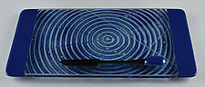 ColorCentric Indigo Serving Plank by Terry Gomien (Art Glass Tray)