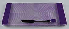 Small ColorCentric Violet Serving Plank by Terry Gomien (Art Glass Platter)