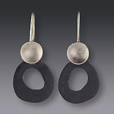 Fat Circle Earrings by Jennifer Park (Enameled Earrings)