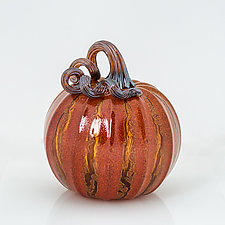 Crackle Pumpkins by Leonoff Art Glass  (Art Glass Sculpture)