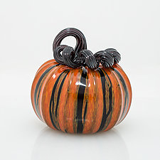 Mini Pumpkins by Leonoff Art Glass  (Art Glass Sculpture)
