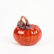 Mini Pumpkins by Leonoff Art Glass  (Art Glass Sculpture)