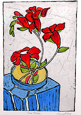 Some Freesias by Penny Feder (Etching)